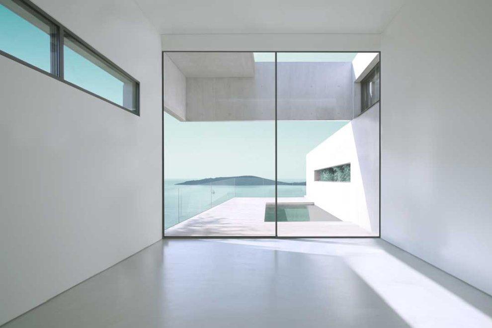 Minimalistyczne drzwi przesuwne